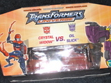 Transformers Crystal Widow vs. Oil Slick Universe thumbnail 2