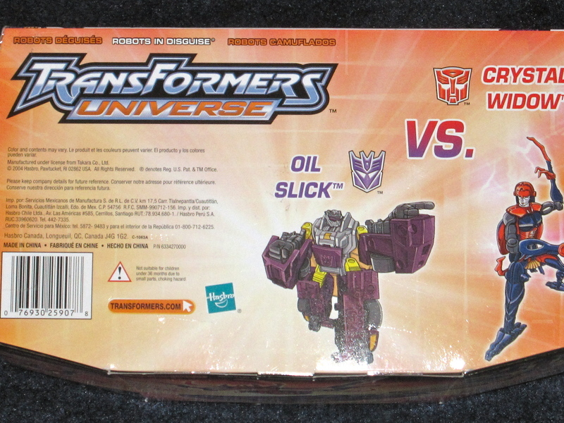 Transformers Crystal Widow vs. Oil Slick Universe
