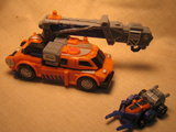 Transformers Smokescreen w/ Forklift Unicron Trilogy