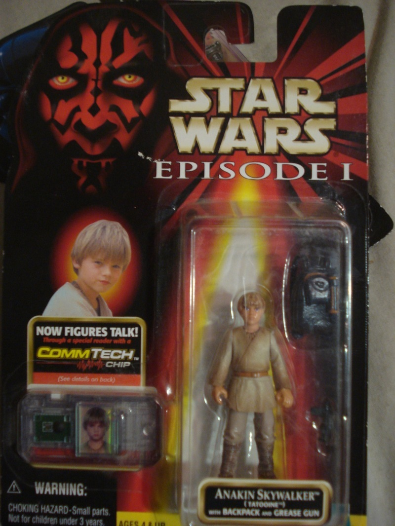Star Wars Anakin Skywalker with Backpack and Grease Gun Episode I - The Phantom Menace
