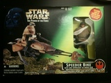 Star Wars Speeder Bike with Luke Skywalker in Endor Gear Power of the Force (POTF2) (1995)