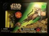 Star Wars Speeder Bike with Princess Leia in Endor Gear Power of the Force (POTF2) (1995)