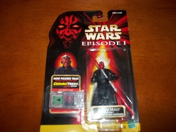 Star Wars CommTech Reader & Darth Maul (Jedi Duel) Episode I - The Phantom Menace