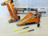 Transformers Seasee Tiin - Jedi Starfighter w/ Hyperdrive Booster Rings Star Wars Transformers