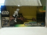 Star Wars Power Racing Speeder Bike with Scout Trooper Power of the Force (POTF2) (1995)