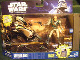 Star Wars Speeder Bike with Gastas Episode II - Attack of the Clones