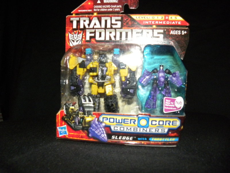 Transformers Sledge w/ Throttler Power Core Combiners