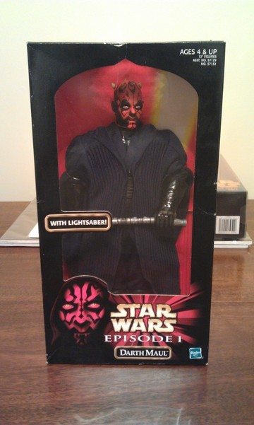 Star Wars Darth Maul with Lightsaber Episode I - The Phantom Menace