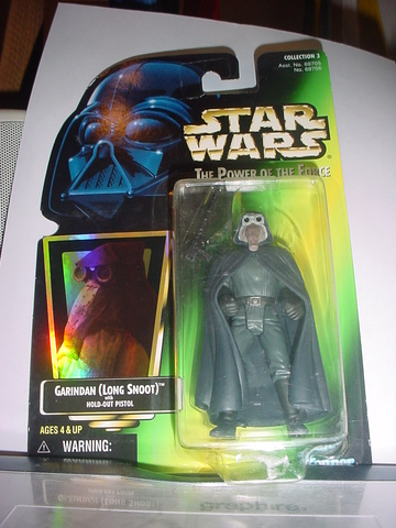 Star Wars Garindan (Long Snoot) with Hold-Out Pistol Power of the Force (POTF2) (1995)