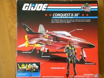 G.I. Joe Conquest X-30 with Python Patrol Viper 25th Anniversary