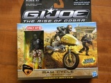 G.I. Joe Ram Cycle with Sandstorm Rise of Cobra