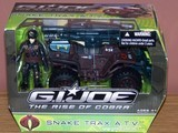 G.I. Joe Snake Trax A.T.V. with Scrap - Iron figure Rise of Cobra