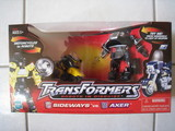 Transformers Sideways vs. Axer Robots In Disguise