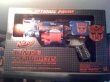 Transformers Nerf N-Strike Transformers Barricade Optimus Prime RV-10 Blaster SDCC Exclusive thumbnail 0