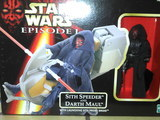 Star Wars Sith Speeder and Darth Maul Episode I - The Phantom Menace