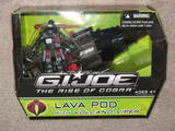 G.I. Joe Lava Pod with Volcano Viper Figure Rise of Cobra