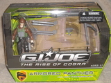 G.I. Joe Armored Panther with Sgt. Thunderblast figure Rise of Cobra