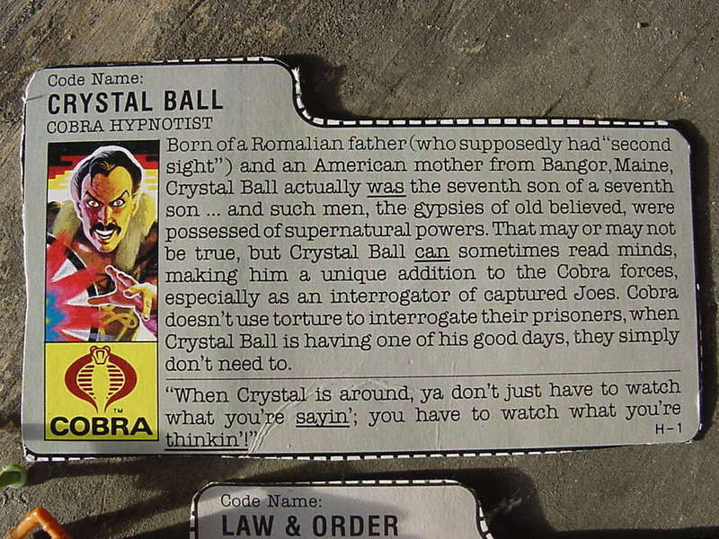 G.I. Joe Crystal Ball Classic Collection