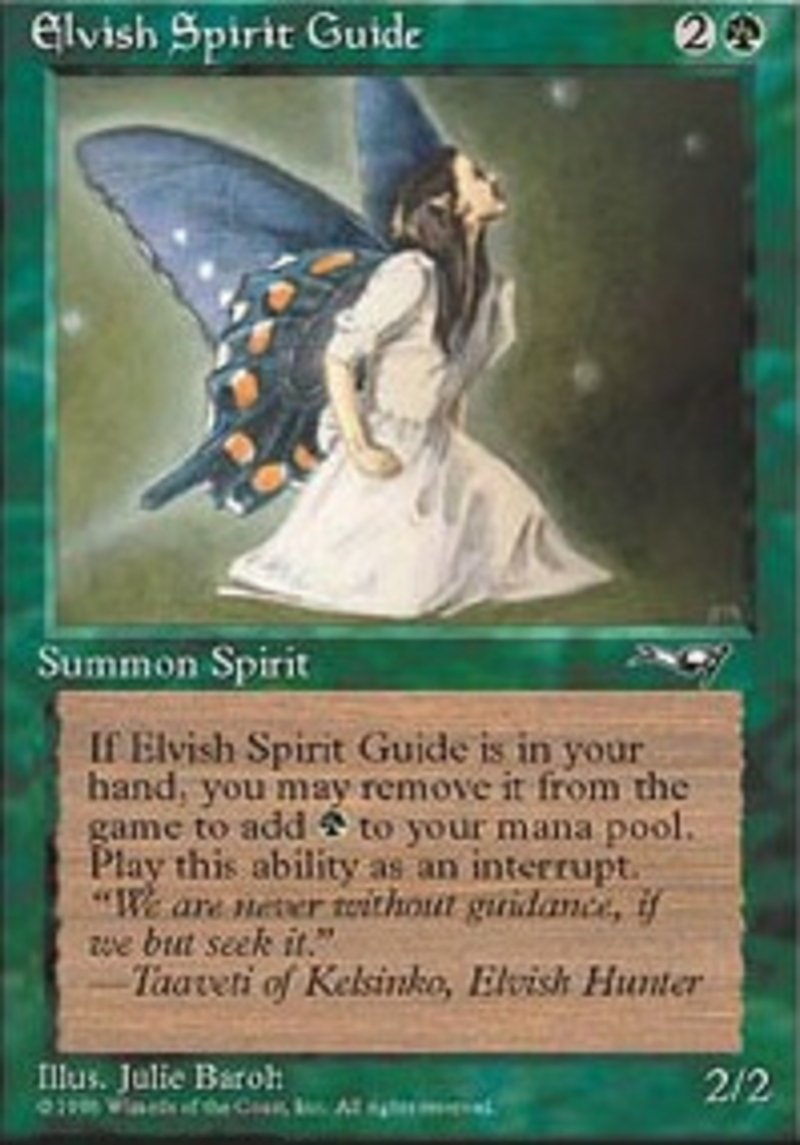 Magic The Gathering Elvish Spirit Guide Ice Age