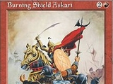 Magic The Gathering Burning Shield Askari Mirage