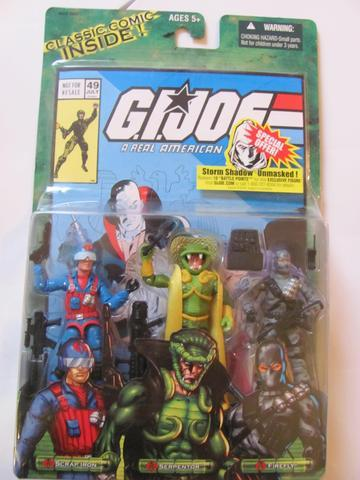 G.I. Joe Scrap Iron - Serpentor - Firefly Valor Vs. Venom