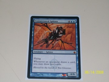 Magic The Gathering Consecrated Sphinx Scars of Mirrodin
