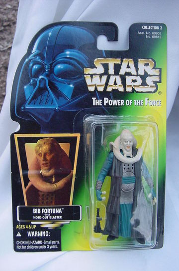 Star Wars Bib Fortuna with Hold-Out Blaster Power of the Force (POTF2) (1995)