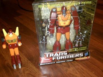 Transformers TRU exclusive Masterpiece Rodimus Prime with Offshoot Classics Series