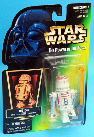Star Wars R5-D4 with Concealed Missile Launcher Power of the Force (POTF2) (1995)