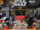 Transformers Millennium Falcon w/ bonus titanium figures Star Wars Transformers