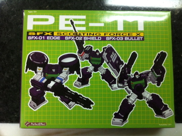 transformers PE-11: SFX Scouting Force X - Camera Set Perfect Effect