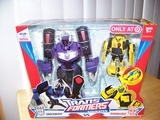 Transformers Shockwave w/ Activators Bumblebee) Animated