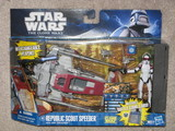 Star Wars Republic Scout Speeder with ARF Trooper Episode II - Attack of the Clones image 1