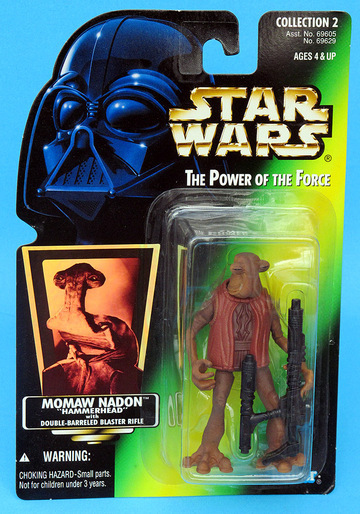 "Star Wars Momaw Nadon ""Hammerhead"" Power of the Force (POTF2) (1995)"
