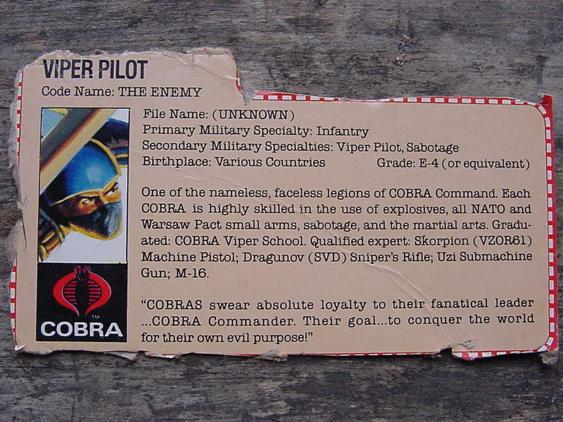 G.I. Joe Cobra Viper Glider Classic Collection