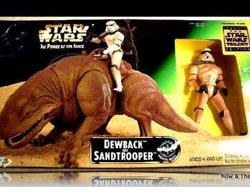 Star Wars Dewback with Sandtrooper Power of the Force (POTF2) (1995)